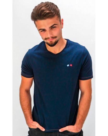 T-shirt homme col V - Le Castres