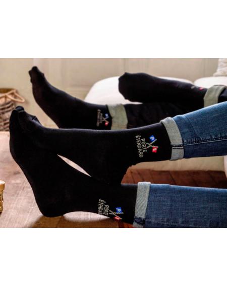 Chaussettes noires Porte Étendard - Les Mazamet